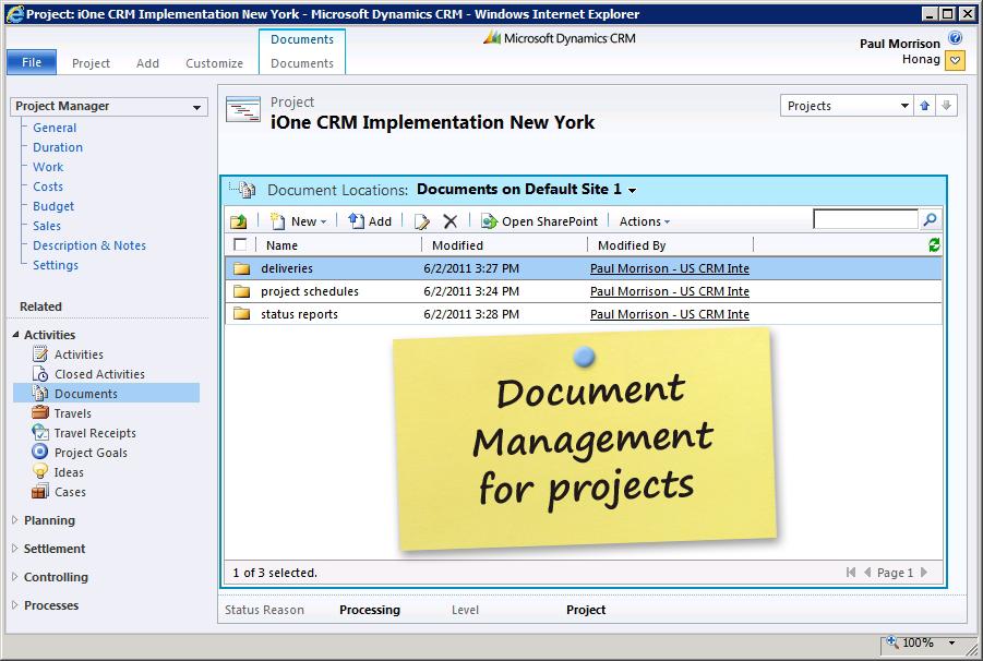 Microsoft Dynamics CRM Document Management Sharepoint