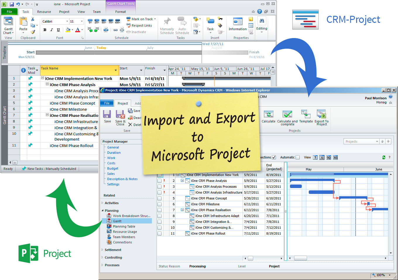 project management microsoft excel